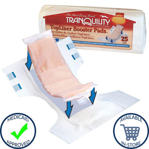 TopLiner™ Incontinence Booster Moderate Absorbency Polymer Unisex Disposable
