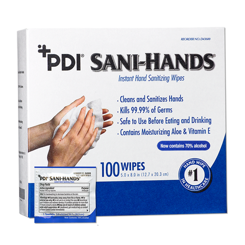 Sani-Hands® Instant Hand Sanitizing Wipes - Individual Packets (D43600)