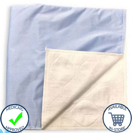Birdseye 34 x 36 inch Reusable Cotton Underpads - Moderate Absorbency