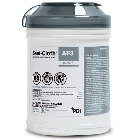 Sani-Cloth® AF3 Germicidal Disposable Wipes - Large Canister (P13872)