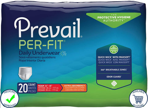 Prevail® Per-Fit® Unisex Pull On Disposable Underwear - Heavy Absorbency