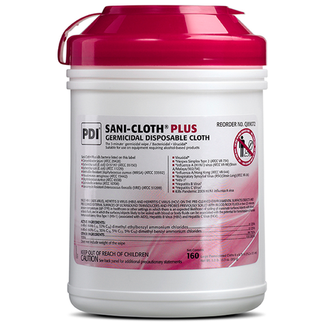 Sani-Cloth® Plus Germicidal Disposable Cloth - Large Canister (Q89072)