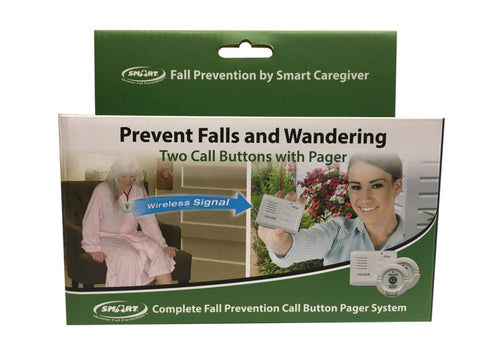 Two Call Button Paging System (2 nurse call buttons and 1 caregiver pager) - in retail packaging with batteries included