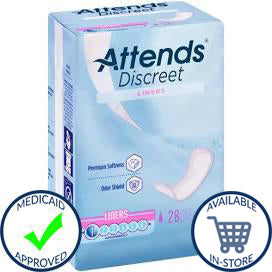 Attends® Discreet Female Disposable Bladder Control Pad - Light Absorbency