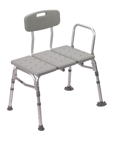 Plastic Shower Tub Transfer Bench with Adjustable Backrest