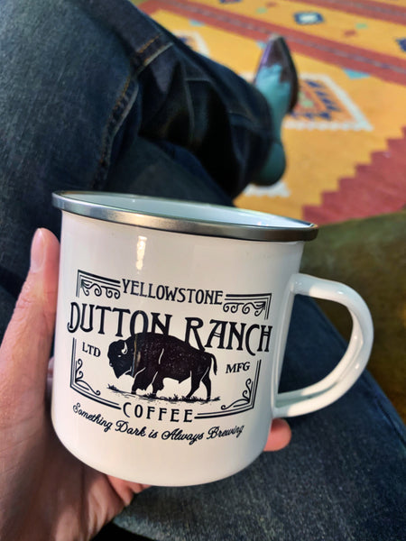 Dutton Ranch Buffalo camp mug