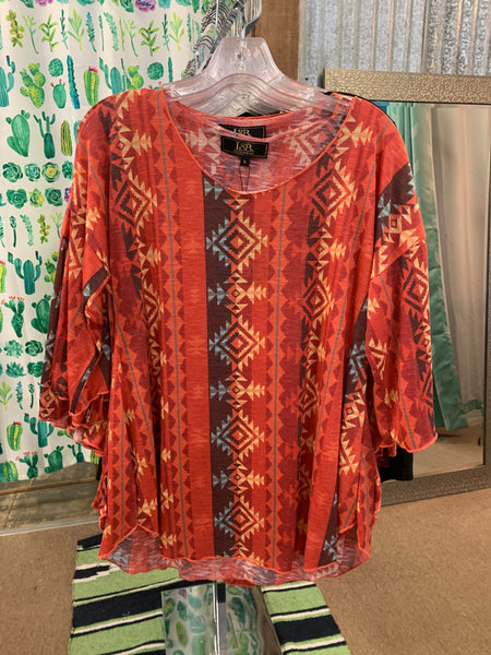 Storefront - Aztec button up western shirt