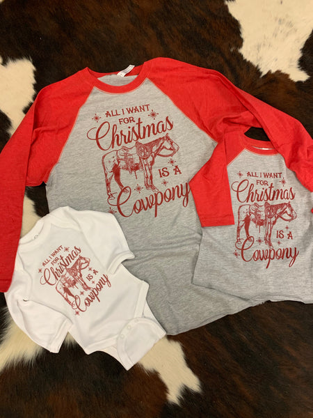 **Kids tee** All I want for Christmas is a Cowpony
