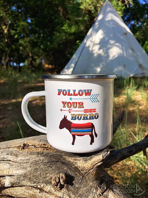Follow Your Burro camp mug