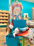 Storefront - Turquoise upright beach bag