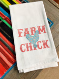 Farm Chick flour sack towel
