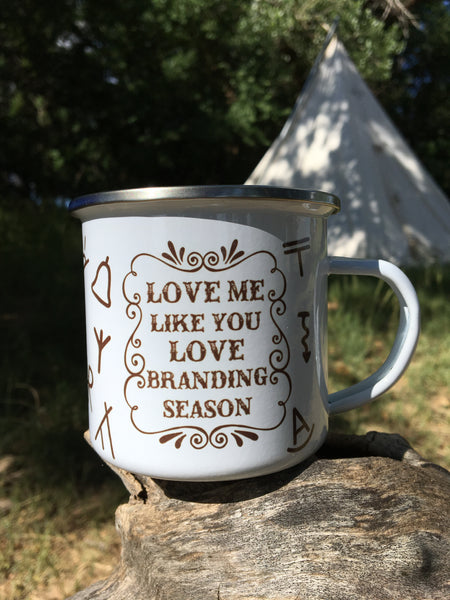 Love Me Like A Cow Loves Cake camp mug