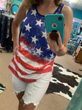 Storefront - American flag tank