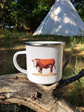 Hereford Bull camp mug