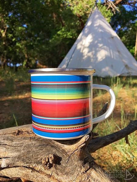 Mornings Are Bull longhorn camp mug