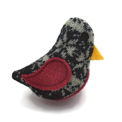 Birds of a Sweater Catnip Cat Toy - Black, White, & Red
