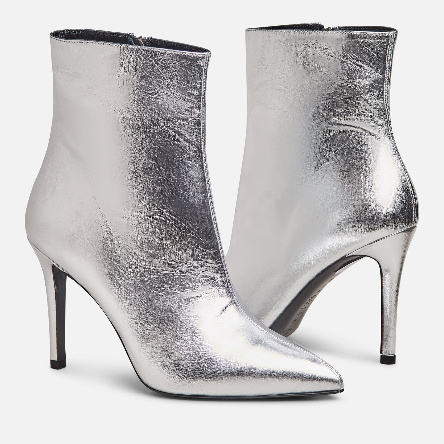 The Christopher Boot - Metallic Silver