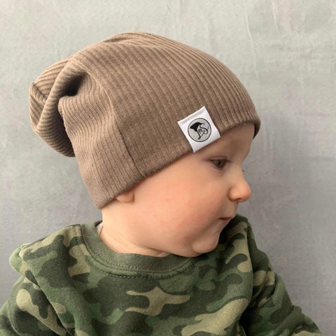 Toffee Ribbed Beanie