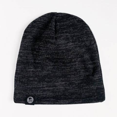 Marled Black Sweater Beanie