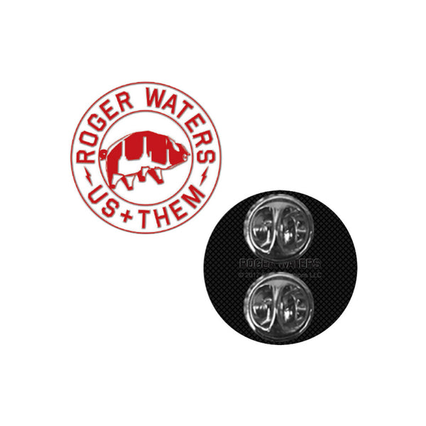 Us + Them Red Pig Enamel Pin