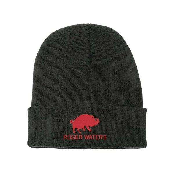 Pig and Logo Knit Beanie