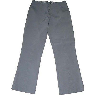 MARIA BIANCA NERO pants lace up skinny P $345 XS 0 2 slacks-Pants-Maria Bianca Nero-P/Petite-Gray-Jenifers Designer Closet