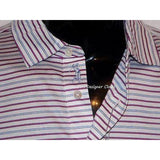 BOBBY JONES M golf casual polo shirt striped blue white pink men's logo-Casual Shirts-Bobby Jones-Medium-Blue/White/Pink-Jenifers Designer Closet