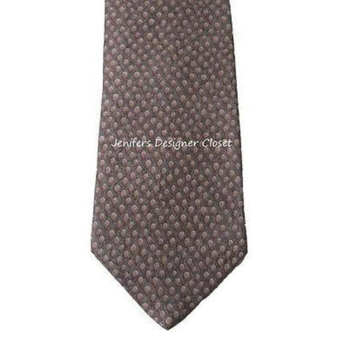 New BVLGARI Italy 100% SILK tie necktie woven luxury 7 fold brown multi men's - Jenifers Designer Closet