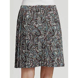 LA VIA 18 Lavia 44 pleated paisley skirt above knee multi color Italy $385-Skirts-Lavia 18-44-Multi-Jenifers Designer Closet