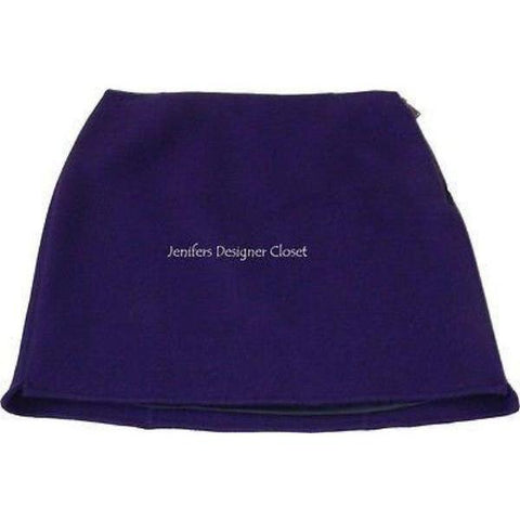 ELIE TAHARI thick wool mini skirt 12 purple career cocktail soft short-Skirts-Elie Tahari-12-Purple-Jenifers Designer Closet