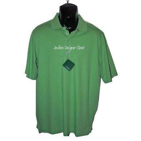 BOBBY JONES Golf polo golf shirt golfer placket bright green men's-Casual Shirts-Bobby Jones-Medium-Green-Jenifers Designer Closet