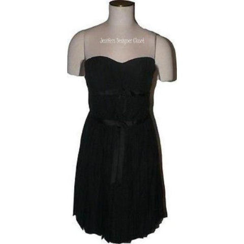 NWT MARC JACOBS cocktail dress 10 silk strapless formal mini black $890 - Jenifers Designer Closet