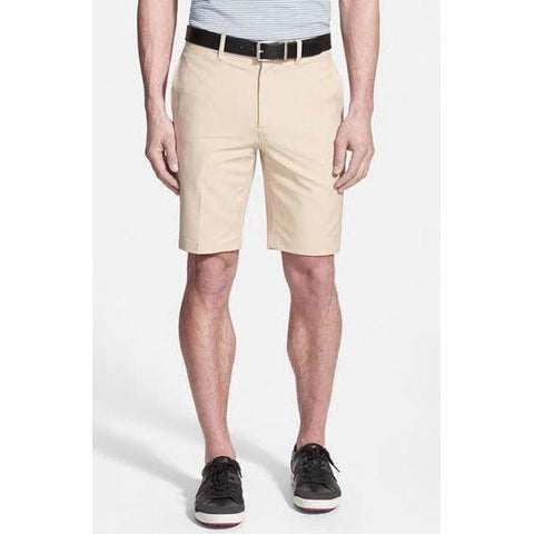 BOBBY JONES Golf shorts flat front men's wicking khaki $95-Shorts-Bobby Jones-Jenifers Designer Closet