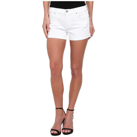 7 FOR ALL MANKIND 31 white Denim jean shorts foldover rolled cuffed hem-Clothing, Shoes & Accessories:Women's Clothing:Shorts-7 For All Mankind-31-white-Jenifers Designer Closet
