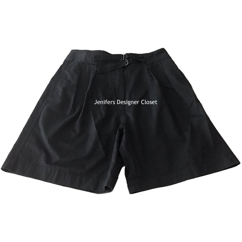 LACOSTE Pleated Shorts 42 10 Black $155 Womens walking bermuda-Shorts-Lacoste-42/10-Navy-Jenifers Designer Closet