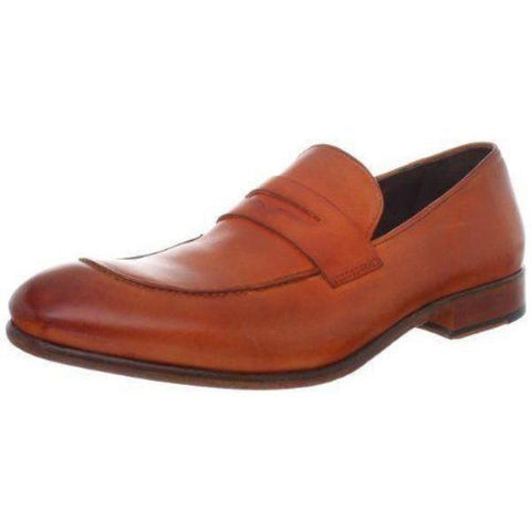 NIB DONALD PLINER men's 8.5 9 loafers shoes penny tang Italy smooth calf leather - Jenifers Designer Closet