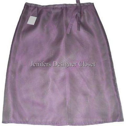GIANFRANCO FERRE career skirt mauve pink shimmer sheen 42 6 $350-Skirts-Gianfranco Ferre-6-Mauve-Jenifers Designer Closet