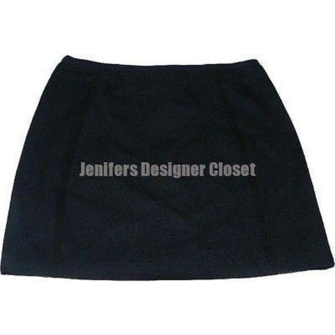 MARC JACOBS mini skirt 10 linen wool designer runway navy career-Skirts-Marc Jacobs-10-Navy-Jenifers Designer Closet