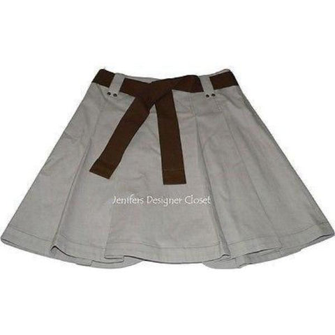 GUNEX designer skirt 4 40 $438 pleated Italy career-Skirts-Gunex-40-tan-Jenifers Designer Closet