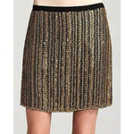 THEORY BRASS adorned mini skirt $495 6 cocktail party evening formal-Skirts-Theory-6-Brass gold-Jenifers Designer Closet