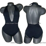 ANIKA Brazil deep V plunging backless swimsuit XS sexy 1 pc-Swimwear-Anika Brazil-XS-graphite-Jenifers Designer Closet