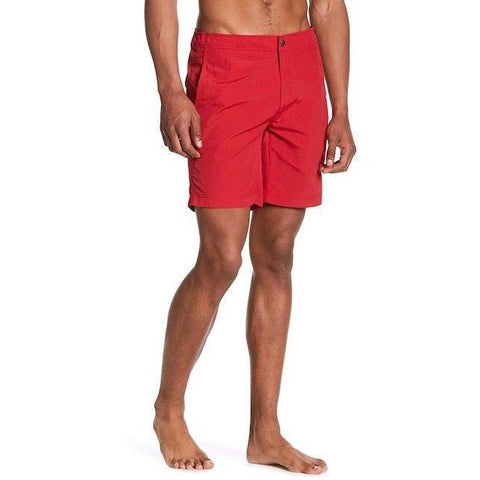 ONIA men's Calder 40 board shorts swim trunks swimsuit true red $130-Clothing, Shoes & Accessories:Men's Clothing:Swimwear-Onia-40-Red-Jenifers Designer Closet