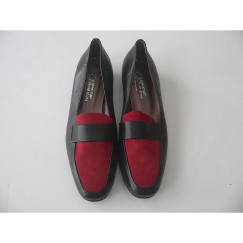 handmade in Capri Italy black red 38 shoes career loafers flats leather-Clothing, Shoes & Accessories:Women's Shoes:Flats-Handmade-38-Red/Black-Female-Jenifers Designer Closet