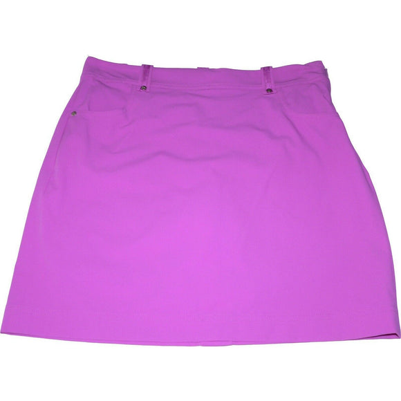 POLO Golf Ralph Lauren 2 skort skirt built-in compression short $125 fuschia