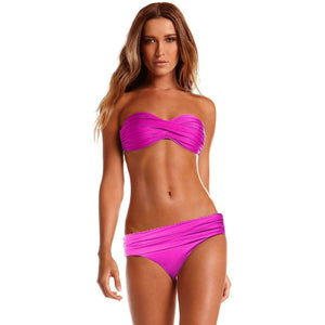 VITAMIN A 8 M designer swimsuit bikini 2PC berry bandeau berry