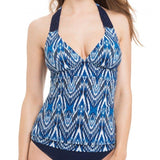 GOTTEX 10 40 Java tankini top swimsuit halter macrame straps blue-Clothing, Shoes & Accessories:Women's Clothing:Swimwear-Gottex-10-Blue-Jenifers Designer Closet
