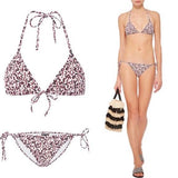 PROENZA SCHOULER LG mini text string bikini swimsuit red black $275