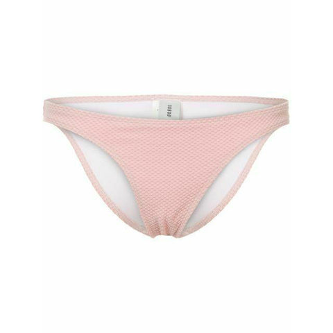 SUBOO Australia US-6 AUS-10 rose pink textured slim bikini bottoms swimsuit-Clothing, Shoes & Accessories:Women's Clothing:Swimwear-Suboo-6-US-Rose pink-Jenifers Designer Closet