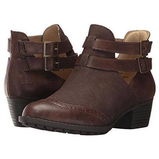 JAMBU JBU boots booties 7 37 ankle brown vegan suede & leather memory foam-Clothing, Shoes & Accessories:Women's Shoes:Boots-Jambu JBU-37/7-Brown-Jenifers Designer Closet