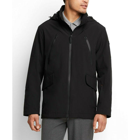 TUMI men's Lakeridge jacket coat water-resistant black hooded - Jenifers Designer Closet